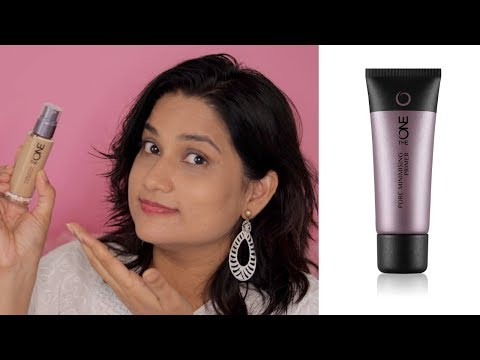 Oriflame The One Pore Minimising Primer & The One Everlasting Foundation Review with Demo