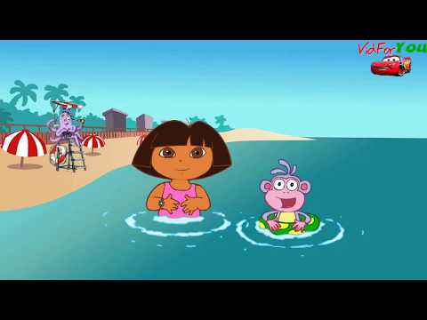 Go To The Beach With Dora And Boots - Find Swiper Before He Takes Boots' Floatie|