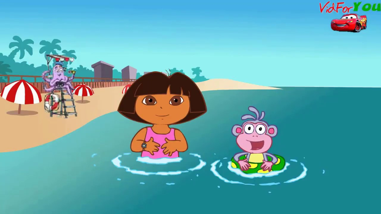 Go To The Beach With Dora And Boots Find Swiper Before He Takes Boots Floatie Youtube