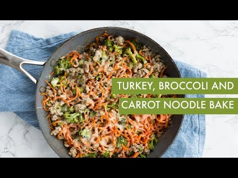 Turkey, Broccoli and Carrot Noodle Bake | Inspiralized