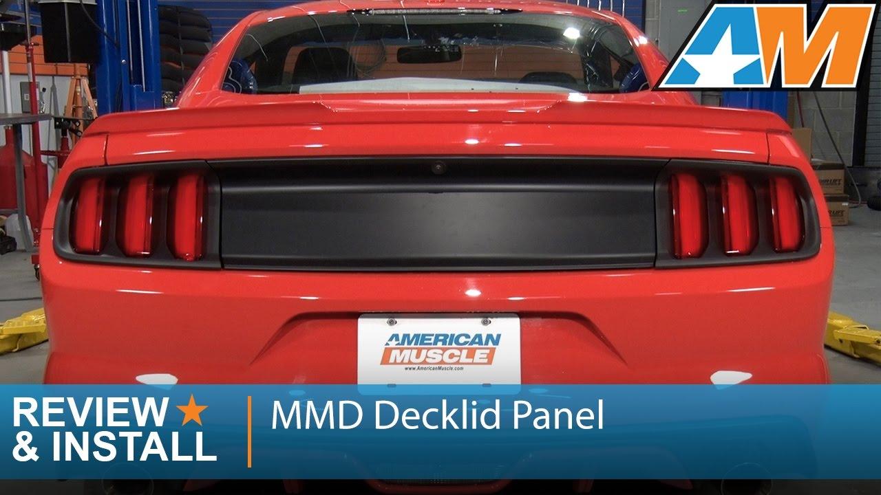 2015 2017 Mustang Mmd Decklid Panel Matte Black Review Install