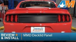 2015-2017 Mustang MMD Decklid Panel - Matte Black Review & Install