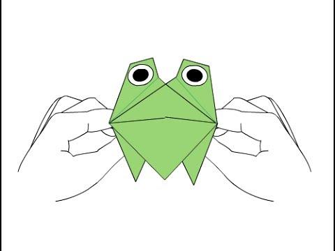 Оригами лягушка. Оригами из бумаги лягушка. Лягушка 54