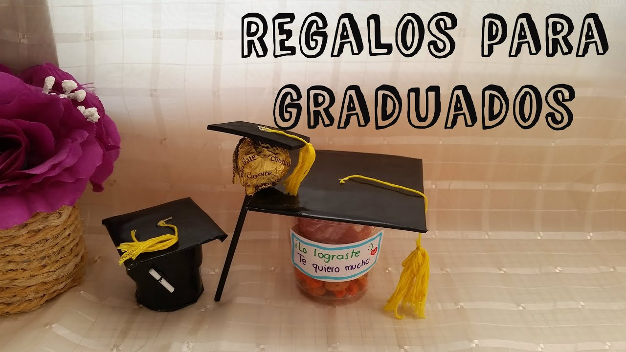Regalos para graduaci n ideas diy graduados youtube for Manualidades para universitarios