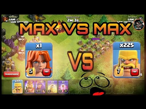 Clash of clan max Val vs max barb  (hindi) sam1735 casino table