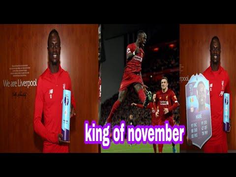 Premier league sadio mané élu meilleur joueur du mois de novembre