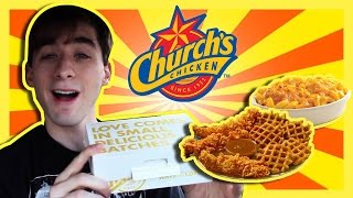 Church's Chicken & Waffle Bites, Mac & Cheese,fried Strawberry Pie-the Food Review-ep.55