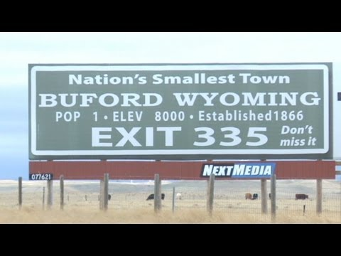 For sale: Wyoming town, pop. 1