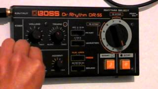 Roland Boss DR- 55 quick write programming steps(see description for a how to)