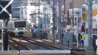 [警笛あり]小田急8000形快速急行「藤沢行き」向ヶ丘遊園駅通過