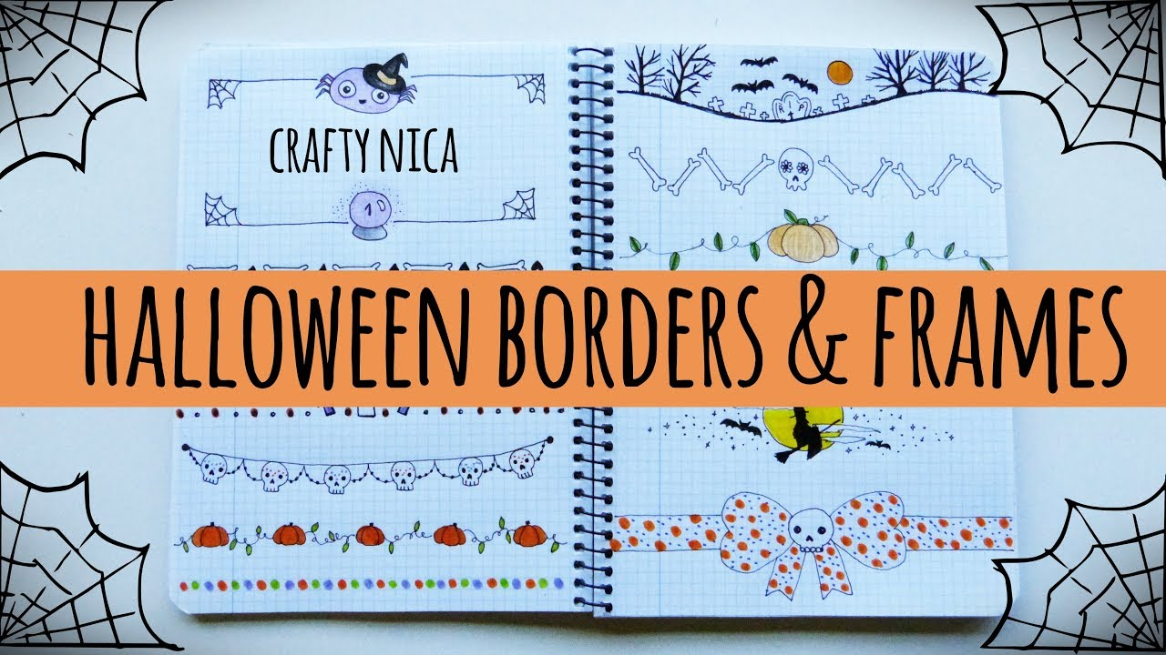 HALLOWEEN BORDERS AND FRAMES (1) For cards, invitations, school ...