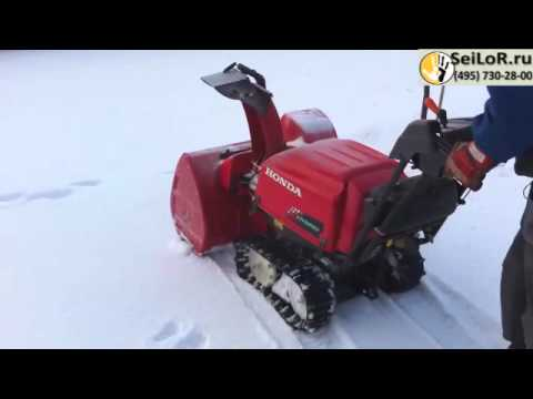 snegouborshchik honda hss  hybrid snowblower youtube