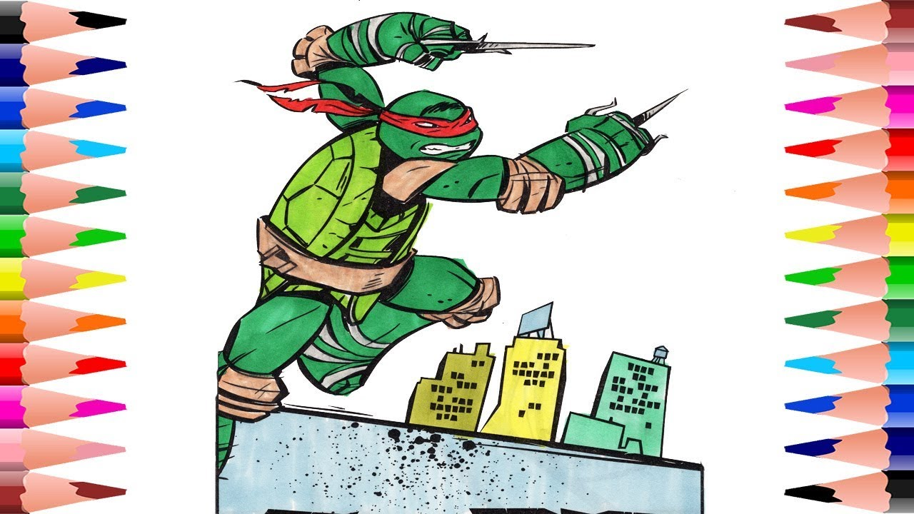 Coloring Raphael Teenage Mutant Ninja Turtles Coloring Pages for ...
