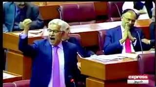 Khawaja Asif used abusive language today against PTI 6 april 2015