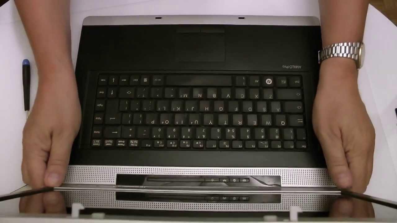 Fujitsu siemens amilo pro keyboard replacement wymiana klawiatury.