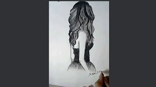 """""""How to draw a girl with charcoal pencil""""..