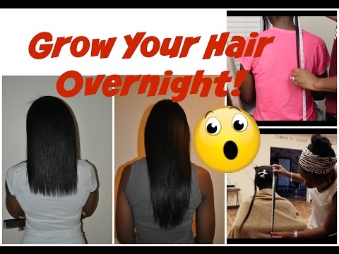 Grow Your Hair OVERNIGHT!! RESULTS YOU WON'T BELIEVE!!
