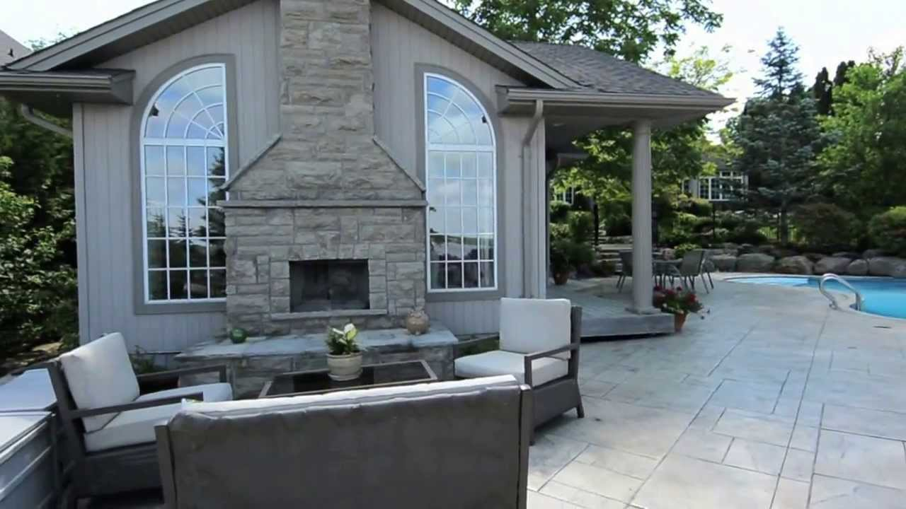 46 Ambleside Dr Port Perry Backyard Pool Guest House Youtube