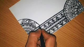 Wow.. How To Drawwing Zentangle Art Fast