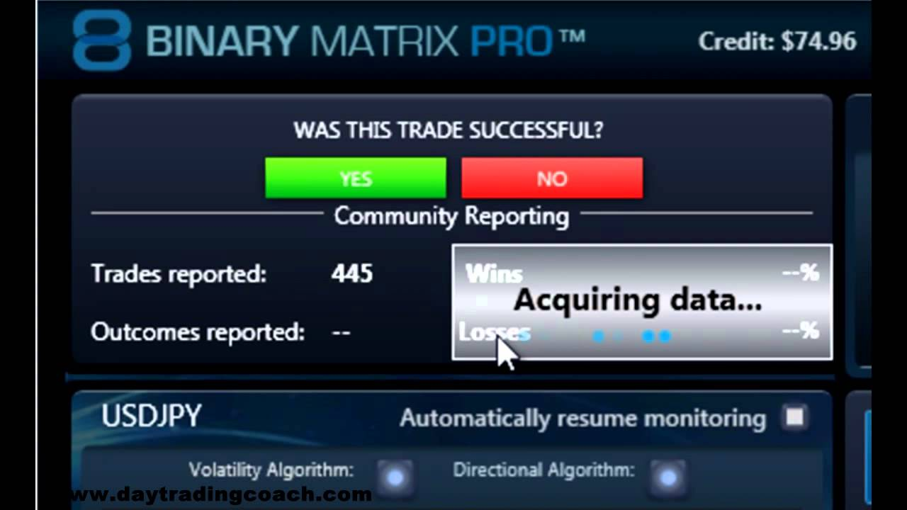 binary options matrix pro