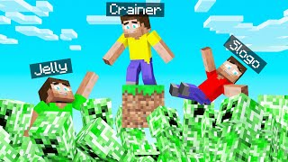 MINECRAFT SKYBLOCK But CREEPERS Are RISING! (Danger)