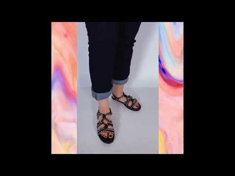 HALA sandália - preto mescla (vegan)