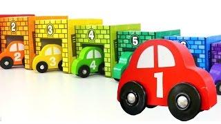 Farben und Zahlen lernen mit den Spielzeugautos.