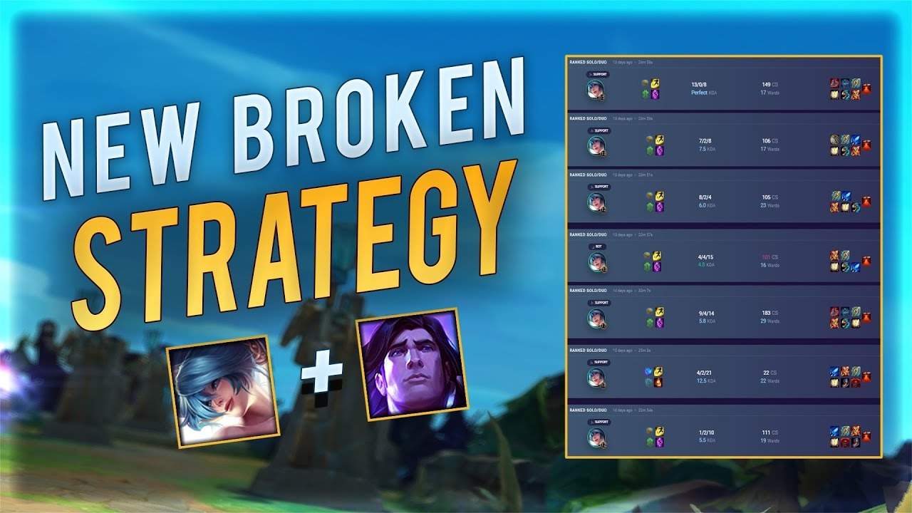 New 70 Win Rate Strategy Euw Challenger Sona Taric Bot Youtube