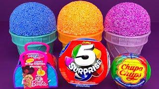 4 Colors Play Foam Ice Cream Cups PJ Masks Chupa Chups Surprise Toys Shopkins Zuru 5 Kinder Joy