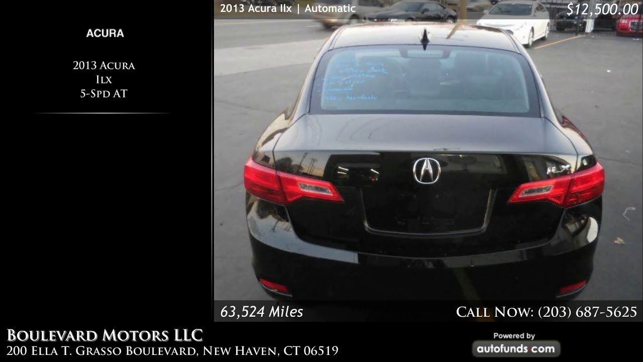 Used 2017 Acura Ilx Boulevard Motors Llc New Haven Ct Sold