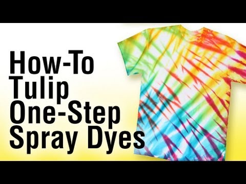 How To Tie Dye Using Tulip One Step Spray Dye Youtube
