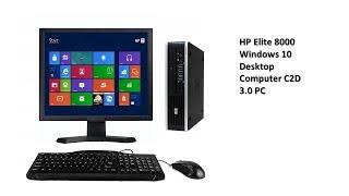 HP Elite 8000 Windows 10 Desktop Computer C2D 3.0 PC 4GB 160GB DVDRW WiFi 17 Inc Tech Market Support