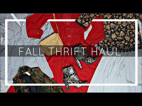 Thrift Fall Haul 2017 x TRY ON Clips