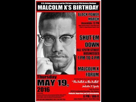Atty. Roger Wareham: May 19th Malcolm X Birthday Shut'Em Down In Harlem