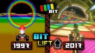 Mario Kart 8 Deluxe - (1992-2017) Graphics Evolution | Bit Lift [TetraBitGaming]