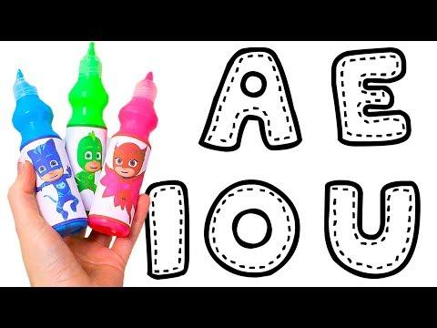 🎨 LAS VOCALES 🎨 Pintamos letras vocales de colores con acuarelas para niños | Juguetes en español