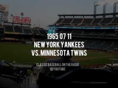 1965 07 11 New York Yankees vs Twins (Red Barber, Jerry Coleman) OTR Radio Broadcast