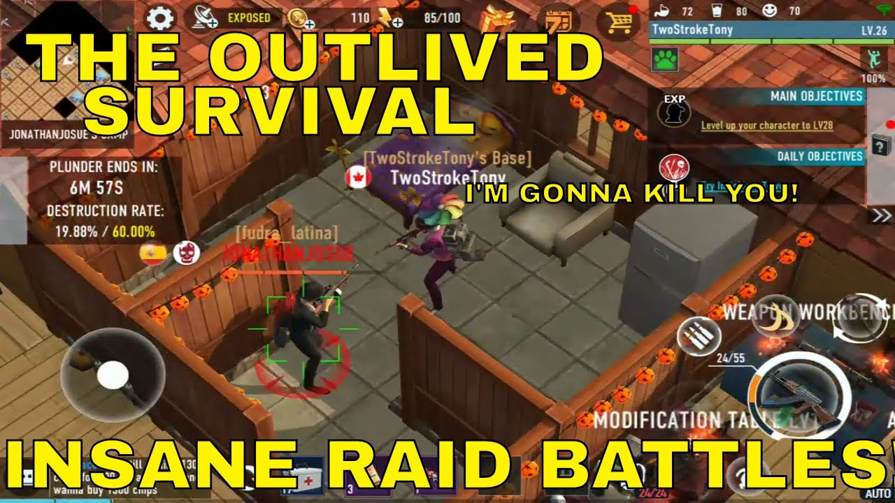INSANE RAID BATTLES! THE OUTLIVED SURVIVAL ANDROID GAMEPLAY ... -