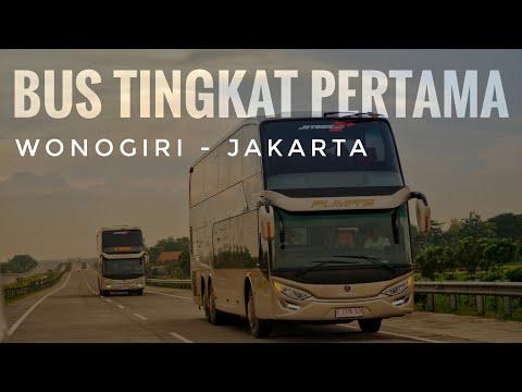 Inilah Wujud Bus Tingkat Pertama di Jawa Jurusan Wonogiri-Jakarta