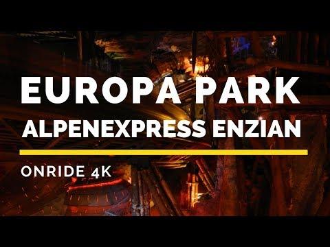 Europa Park - Alpenexpress Enzian Onride Backseat 4K