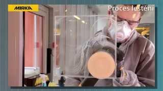 Systém broušení skla Mirka