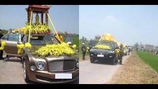 """Đám ma hoành tráng với hơn 30 """"siêu xe"""" rước tang tại Nam Định"""