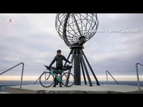 Vivaldo Lleshi in bici da Torino a Capo Nord unend...