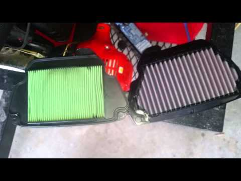 DNA air filter install on cbr650f (K&N)