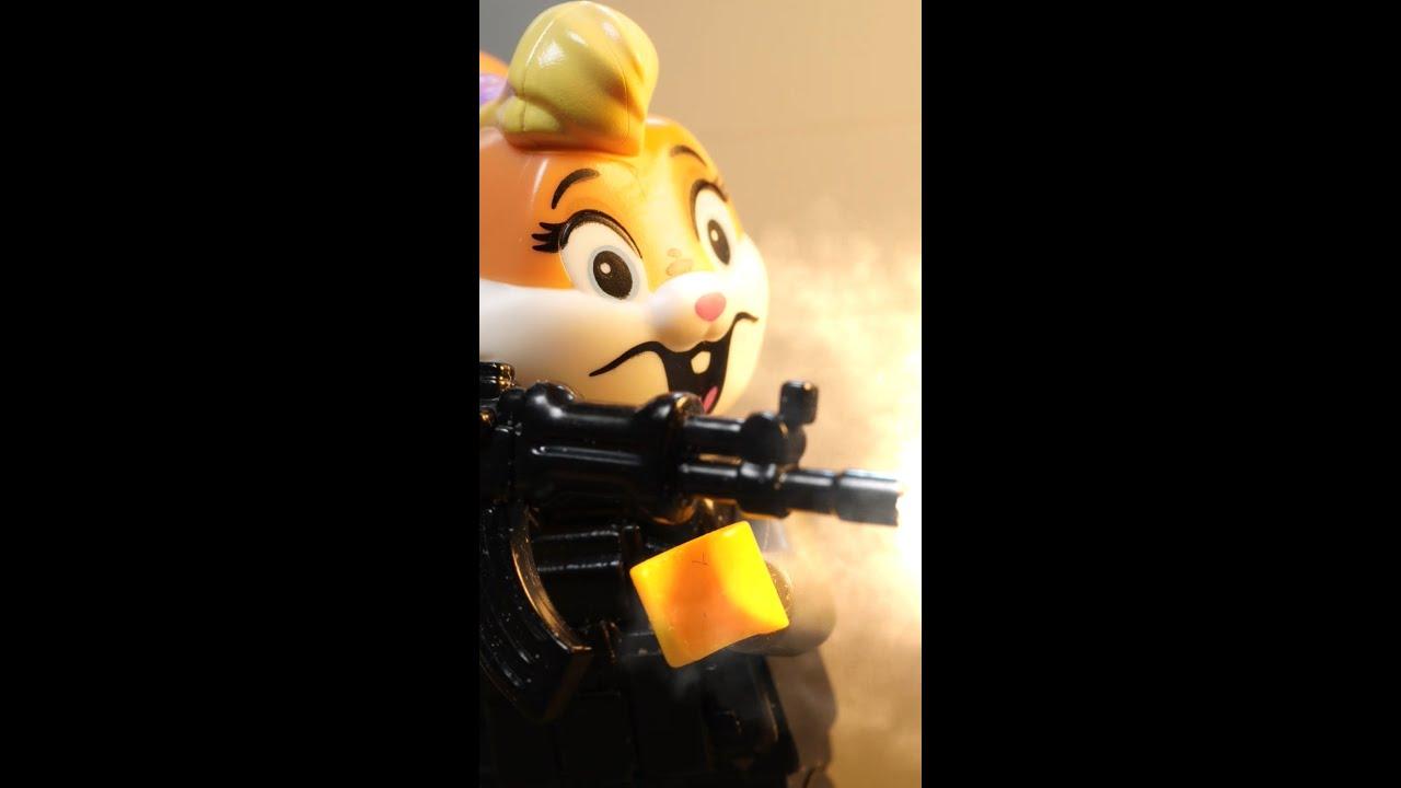 레고로 만든 총격전 (레고 스톱모션)