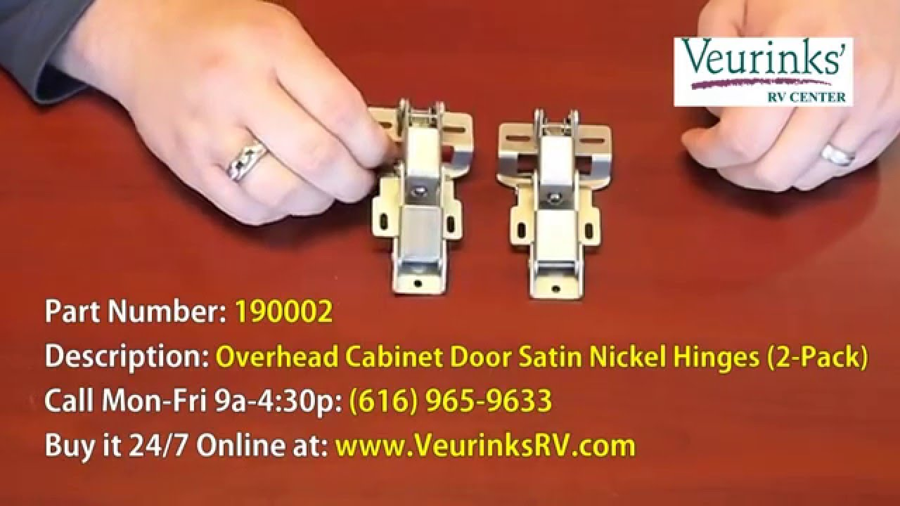 Satin Nickel Overhead Cabinet Door Hinges For Motorhome | 190002 | Monaco  Parts