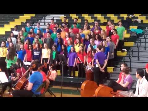 Prism concert at North Hunterdon High School the concert choir starts to show with it takes a villag