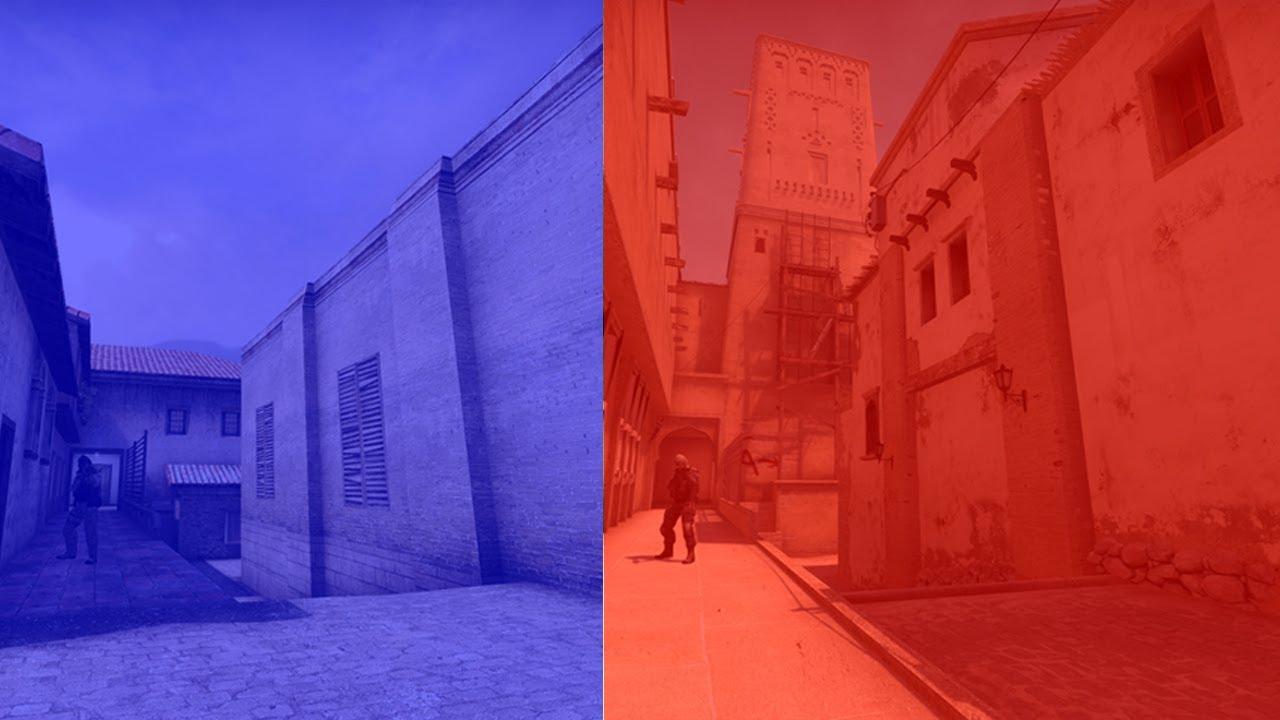 CS: GO New de_mirage vs Old de_mirage, Side to Side ...