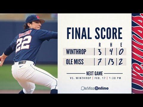 HIGHLIGHTS | Ole Miss defeats Winthrop 7 - 3 (02/16/18) #WAOM #FinsUpRebels