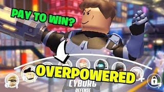 The Most OVERPOWERED Character in Roblox Q-Clash?! (Cyborg Gameplay)